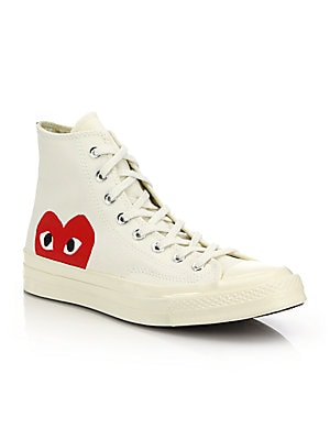 d09eff84cec Comme des Garcons Play - Peek-A-Boo Canvas Sneakers - saks.com