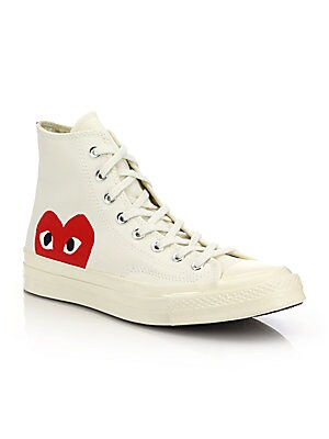 1bebed20458 Comme des Garcons Play - Peek-A-Boo Canvas Sneakers - saks.com
