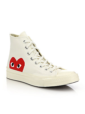 Comme des Garcons Play - Peek-A-Boo Canvas Sneakers - saks.com 3a452f19a