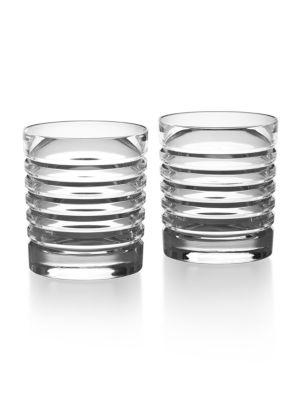 Ralph Lauren Metropolis Crystal Glasses Set Of 2