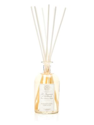Image of Antica Farmacista Home Ambiance Fragrance, the signature product in the collection, is a unique and beautiful way to fragrance and decorate the home. The Home Ambiance Fragrances utilize antique-inspired apothecary bottles, filled with fragrance, to perme