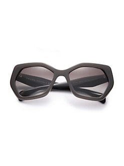 32c29ede4249 Prada. Angular 56MM Pentagonal Sunglasses