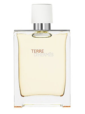Image of Feeling the earth, lying on the ground, gazing at the sky. Jean-Claude Ellena. Terre d'Hermès is a symbolic narrative revolving around a raw material and its metamorphosis. A novel that expresses the alchemical power of the elements. A water somewhere bet