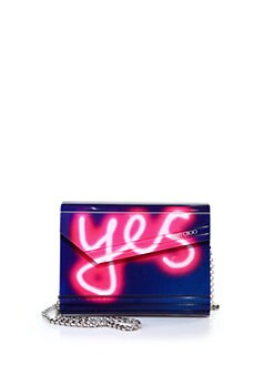 Jimmy Choo - Candy Neon Light Yes/No Acrylic Clutch