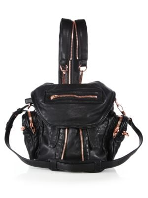 Marti Mini Convertible Leather Backpack
