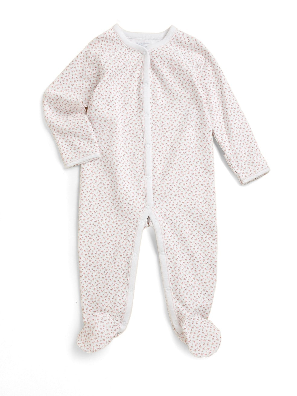 폴로 랄프로렌 베이비 아기옷 우주복  Polo Ralph Lauren Baby Girls Floral Cotton Footie,WHITE MULTI