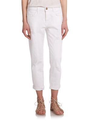 The Distressed Fling Slim-Fit Boyfriend Jeans plus size,  plus size fashion plus size appare