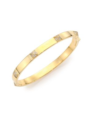 MARLI Pyramide Diamond & 18K Yellow Gold Station Bangle Bracelet