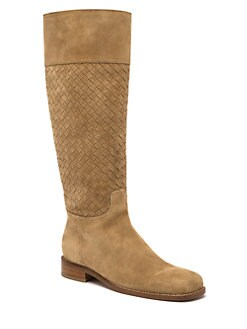 Bottega Veneta - Woven Leather Knee-High Boots