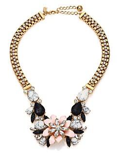 Kate Spade New York - Glossy Petals Statement Bib Necklace