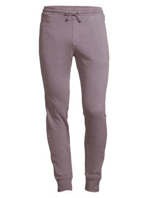 WAHTS Cotton & Cashmere Cuffed Sweatpants in Washed Grey