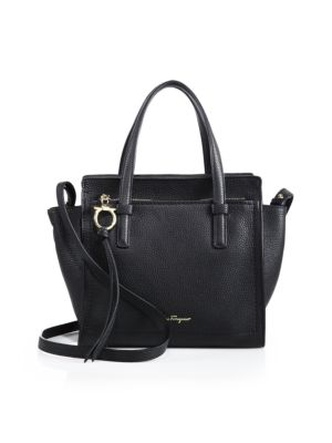 Amy Mini Pebbled Leather Tote by Salvatore Ferragamo