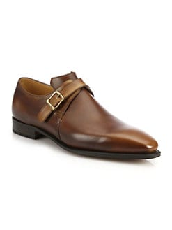 71df93256a0 Corthay. Arca Buckle Pullman French Leather Dress Shoes