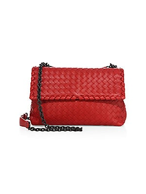 bbffbf08d5 Bottega Veneta - Olimpia Small Intrecciato Leather Shoulder Bag - saks.com