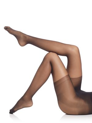 Image of 20 Denier sheer pantyhose designed to sculpt the body.3D knitting technology for even, balanced look. Long-leg shaping pant with graduated shaping capabilities. Elasticized waist. Cotton gusset. Nylon/elastane. Hand wash. Imported.
