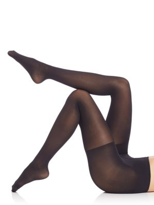 Image of 50 Denier semi-opaque pantyhose provides a matte, balanced look on the leg. Long-leg shaping pant with graduated shaping capabilities. Elasticized waist. Cotton gusset. Nylon/elastane. Hand wash. Imported.