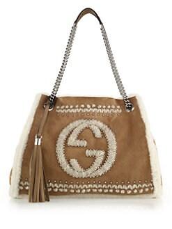 Gucci - Soho Chain Shearling Shoulder Bag