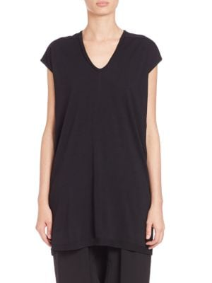 Floating Wool Jersey Tee by Rick Owens