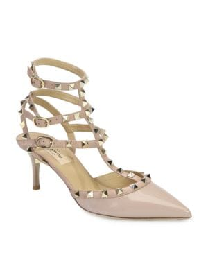 Rockstud Slingback 100Mm Pump in Nude