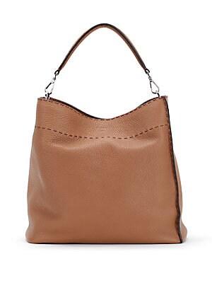 5cab0ef8f8 Fendi - Anna Selleria Leather Shoulder Bag - saks.com