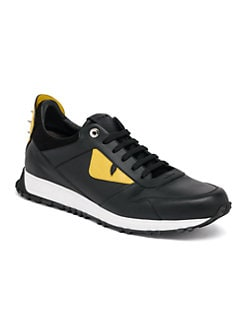 Product image. #. Fendi. Bugs Leather Athletic Sneakers