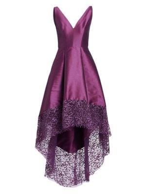 ML Monique Lhuillier Womens High Low Gown