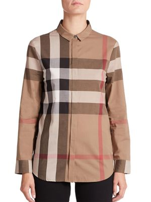 Large-Check Blouse by Burberry