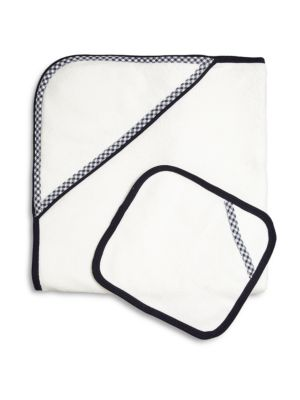 Babys Check Towel  Wash Cloth Set