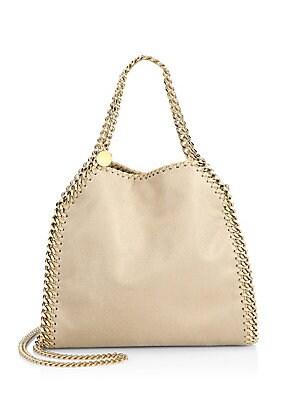 f34aef8f7f90 Stella McCartney - Falabella Mini Baby Bella Metallic Faux Suede Shoulder  Bag