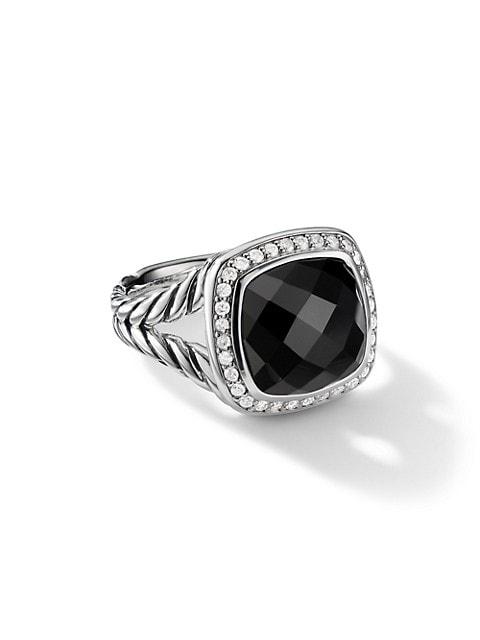 Albion Ring with Gemstone & Diamonds