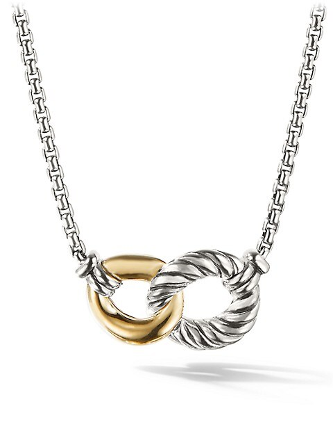 Belmont Curb Link Necklace with 18K Yellow Gold
