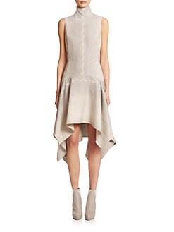 Akris - Wool Handkerchief-Hem Dress