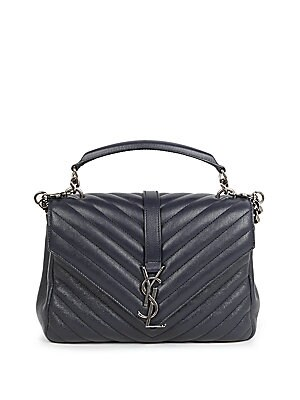 a66b4d894e47 Saint Laurent - Medium College Monogram Matelasse Leather Shoulder Bag -  saks.com