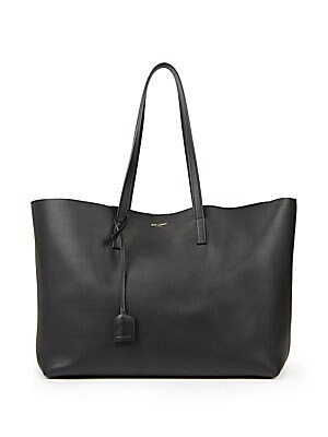 127bf1261f9f Saint Laurent - Large Leather Shopper Tote - saks.com