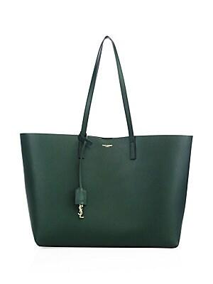 375ea8a93c546 Saint Laurent - Large Leather Shopper Tote - saks.com