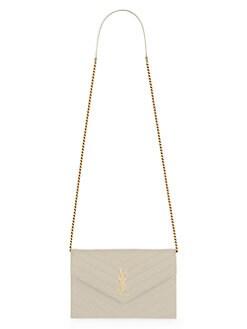 46c33f65d11 Product image. QUICK VIEW. Saint Laurent. Small Monogram Matelassé Leather  Wallet-On-Chain