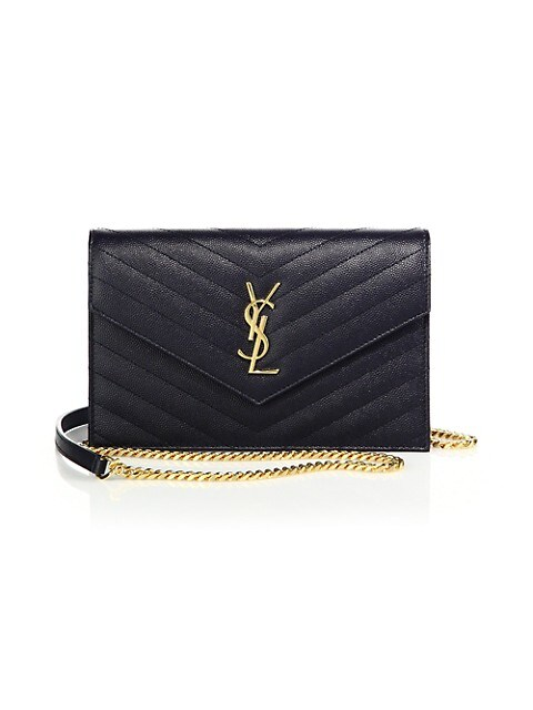 Small Monogram Matelassé Leather Wallet-On-Chain