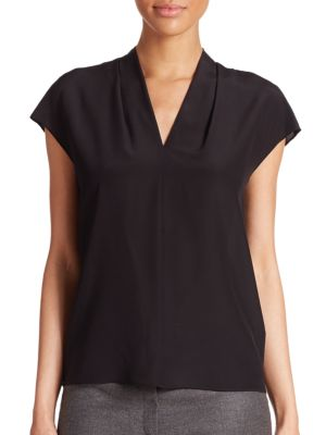 Silk V-Neck Blosue by Escada
