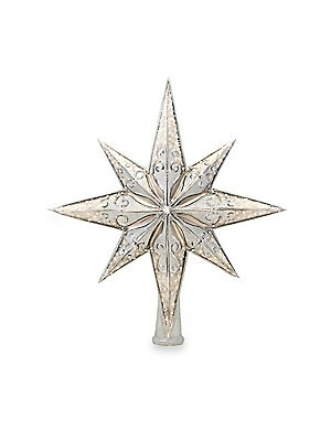 "Image of Glass ornament featuring astral sparkling design. Height, 14"" Glass Spot clean Imported. Gourmet Food & - Trim A Home. Christopher Radko."