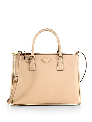 00c756958f74 Prada - Saffiano Lux Medium Double-Zip Leather Satchel