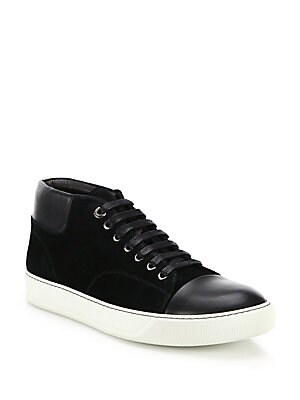 31ffb6235 Lanvin - Classic Leather & Suede High-Top Sneakers - saks.com
