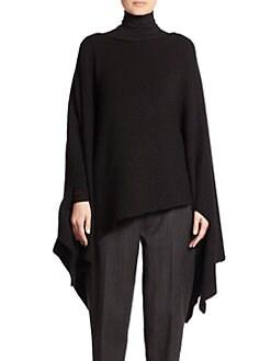 Donna Karan - Asymmetrical Cashmere Poncho