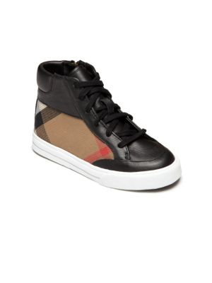 Baby's, Toddler's & Kid's Haypark Check High Top Sneakers by Burberry