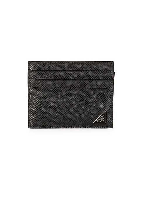 "Image of A compact card case with ample card slots and a cool, contrasting interior. Six card slots. One slip pocket. Leather.4""W X 3""H.Made in Italy."