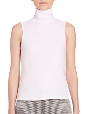 99b18972c0f6 Theory Wendel Sleeveless Turtleneck Top In Blush