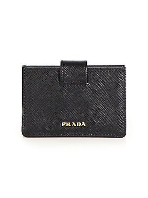 f9ba21a0bcec Prada - Saffiano Leather Accordion Card Case - saks.com