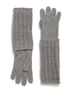 Long Knit Gloves by Moncler