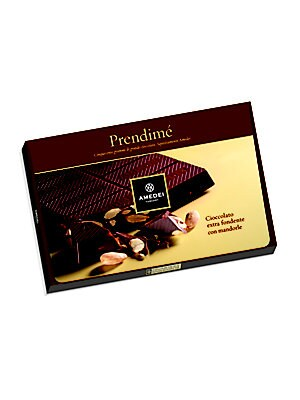 "Image of Divine dark chocolate bar with rich almonds. 10""W X 1""H X 7""D 17.25 oz. Shelf life: 6 months Made in Italy. Drop Ship Prgrm - Food. Amedei."