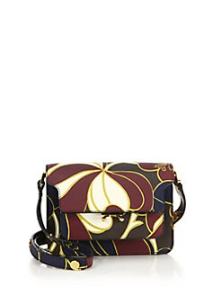 Marni - Triple-Gusset Mini Floral Saffiano Leather Shoulder Bag