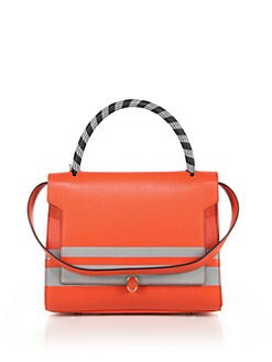 Anya Hindmarch - Bathurst Striped Small Leather Top Handle Bag